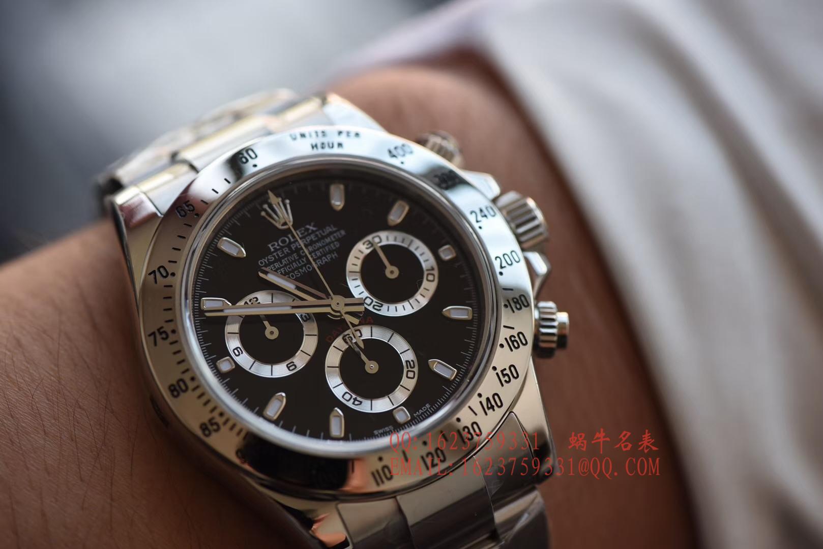 【AR一比一超A高仿手表】劳力士宇宙计型迪通拿系列116520-78590 黑盘腕表(黑钢迪)、116520-78590 白盘腕表(白钢迪) / RBH195