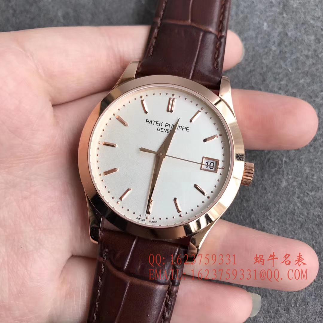 【台湾厂一比一精仿手表】百达翡丽古典表系列5296R-010 玫瑰金腕表 / BD143