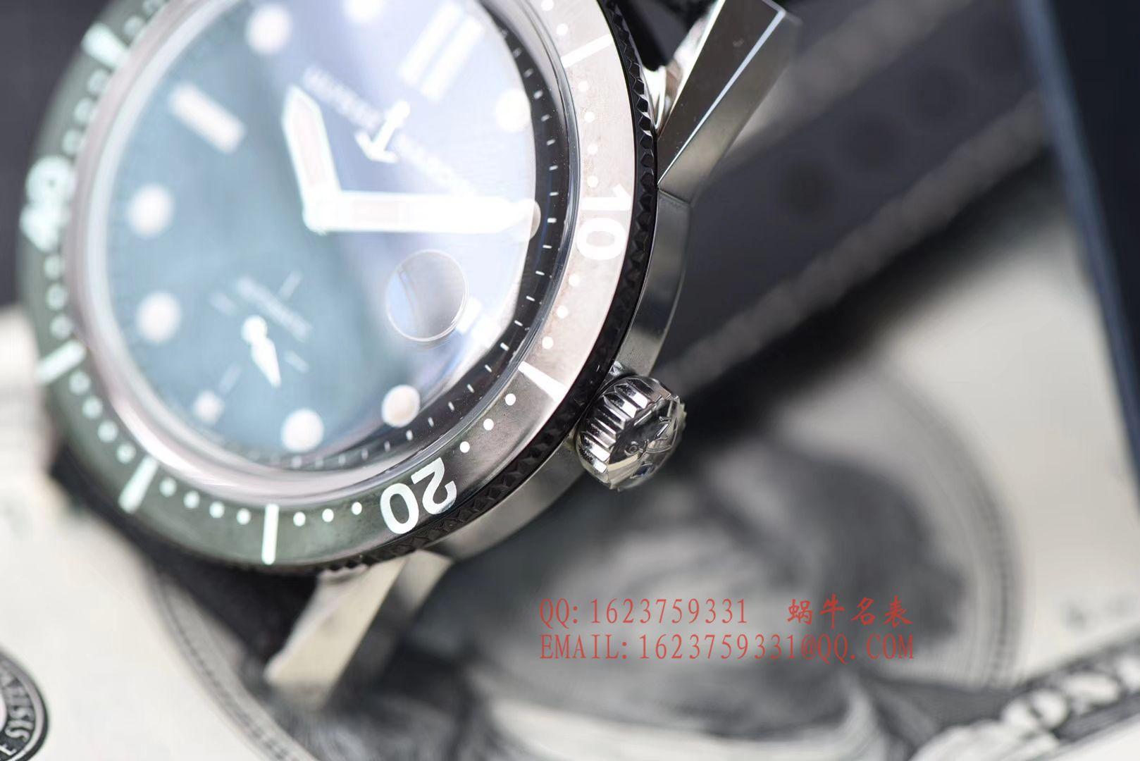 【视频评测神器:一比一完美高仿手表】雅典表Ulysse Nardin Diver潜水表系列Le Locle 勒洛克潜水腕表3203-950 / YD012