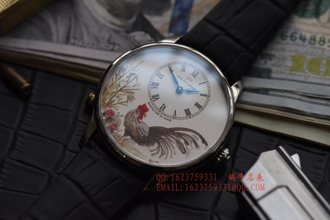 【顶级复刻手表】雅克德罗时分小针盘系列J005013216腕表 / YD006