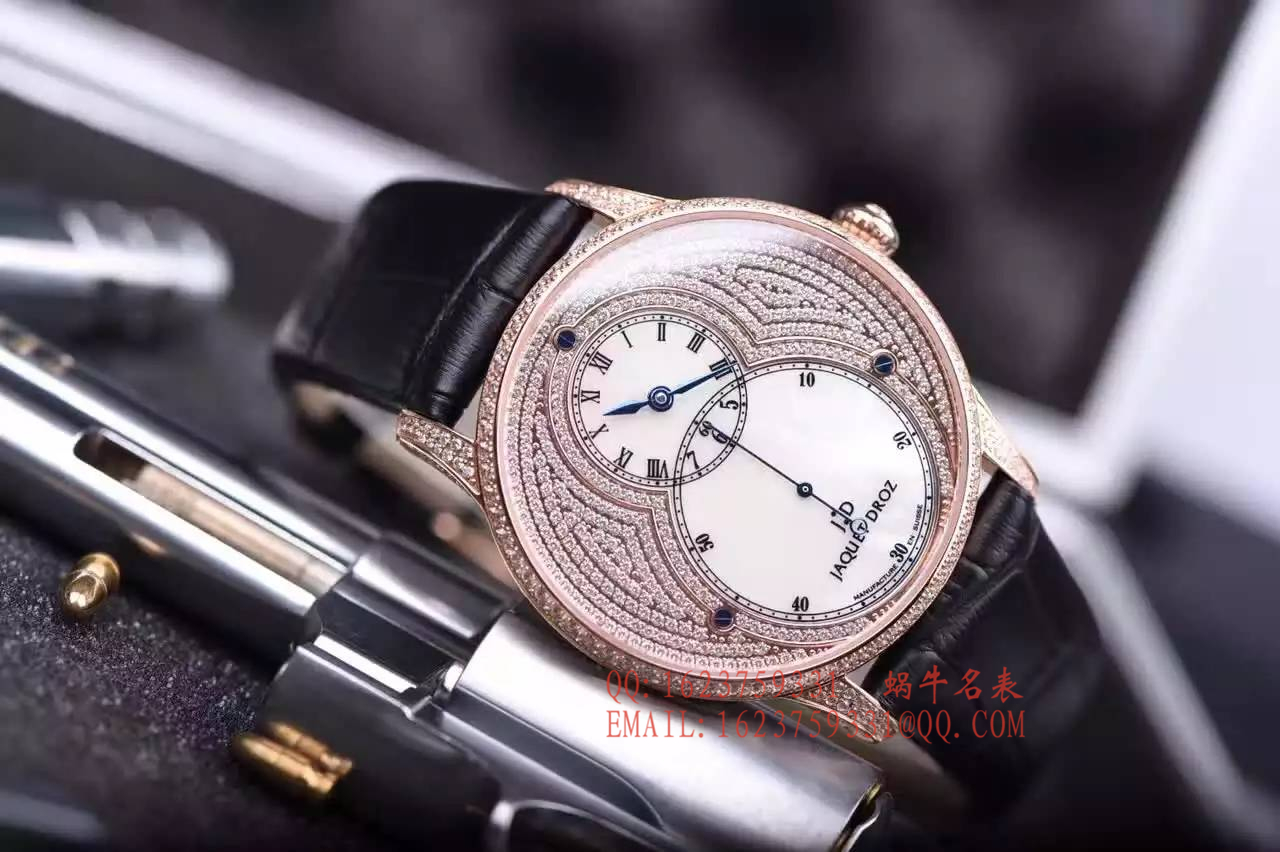 【实拍图鉴赏】1:1超A高仿手表之雅克德罗大秒针系列J014013226腕表 / 雅克德罗YK04