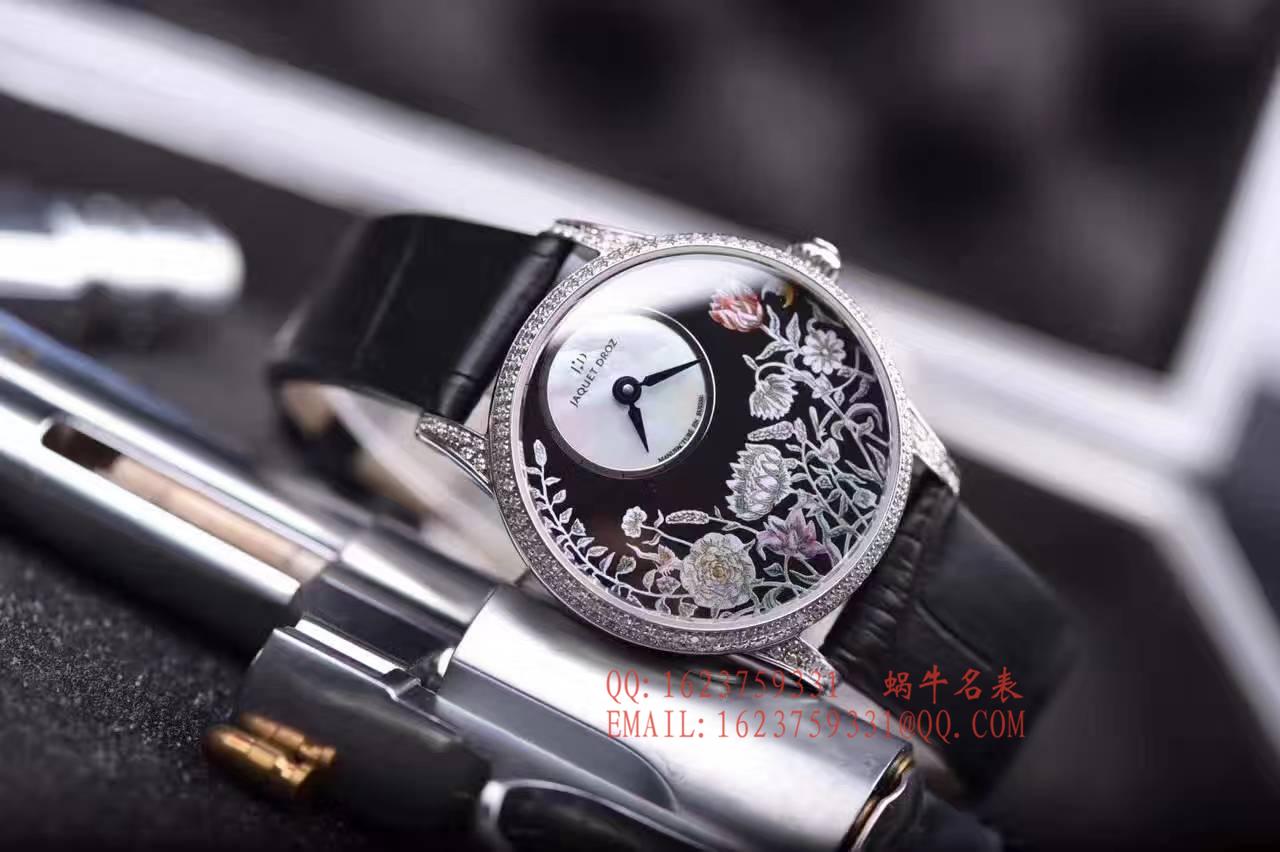 【实拍图鉴赏】KS1:1顶级复刻手表之雅克德罗艺术工坊系列J005004201女表 / 雅克德罗YK06