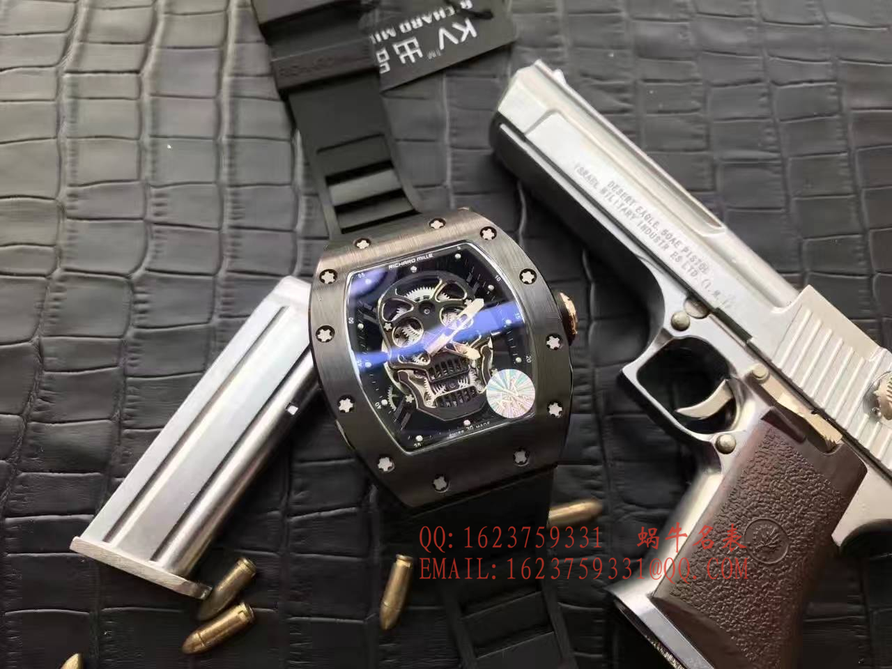 【视频解析】1:1超A精仿KV厂出品顶级版理查德米勒骷髅头RM 52系列手表 / R007