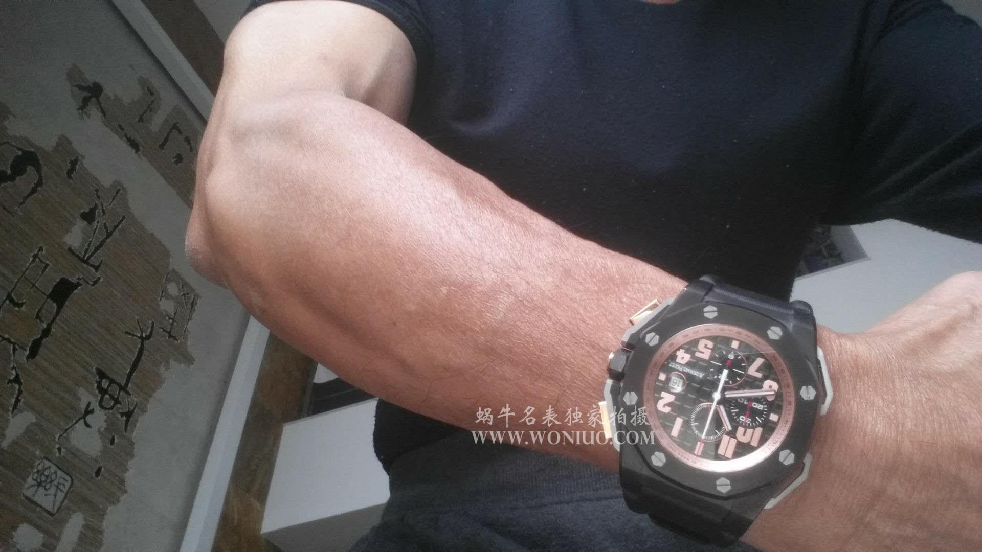 【JF厂1:1超A复刻高仿手表】爱彼皇家橡树离岸型系列施瓦辛格26378IO.OO.A001KE.01腕表 / AP074