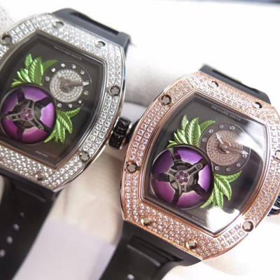 【RM厂一比一超A高仿手表】里查德米尔女士系列RM 19-02 TOURBILLON FLEUR飞行陀飞轮腕表腕表