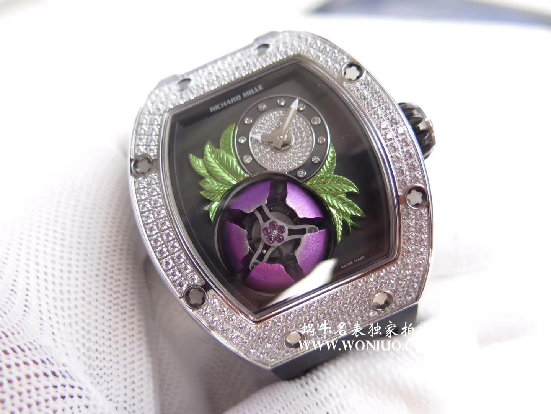 【RM厂一比一超A高仿手表】里查德米尔女士系列RM 19-02 TOURBILLON FLEUR飞行陀飞轮腕表腕表 / RM 019
