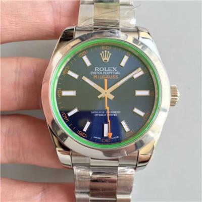 【AR一比一超A高仿手表】劳力士116400-GV-72400蓝盘腕表《蓝色闪电》116400-GV-72400黑盘腕表《黑色闪电》