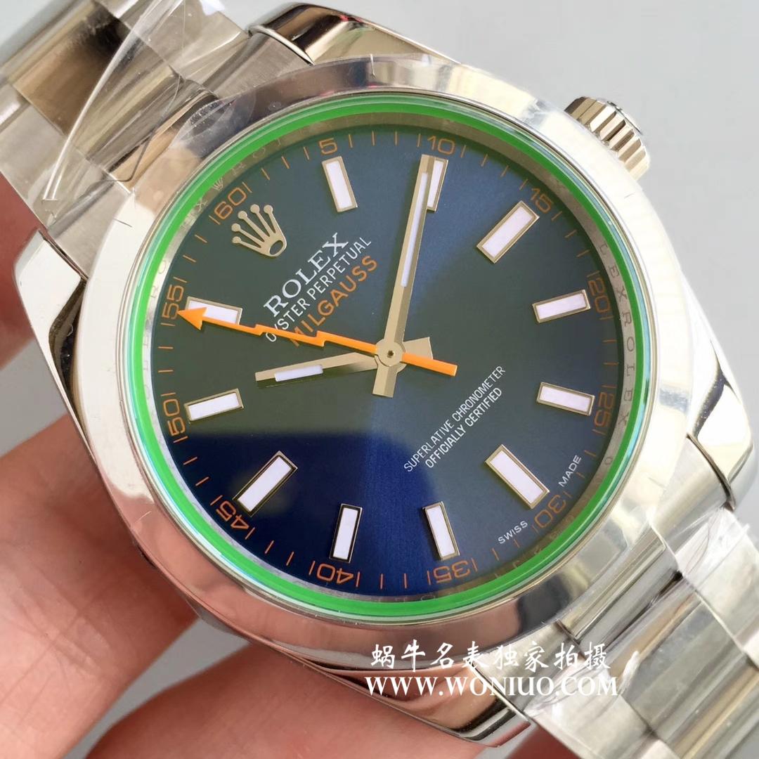 【AR一比一超A高仿手表】劳力士116400-GV-72400蓝盘腕表《蓝色闪电》116400-GV-72400黑盘腕表《黑色闪电》 / R206