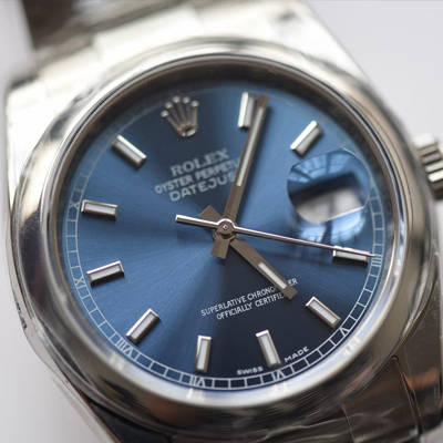 【AR一比一超A高仿手表】劳力士日志型系列116200-72600蓝盘36毫米中性腕表男女均可戴价格报价