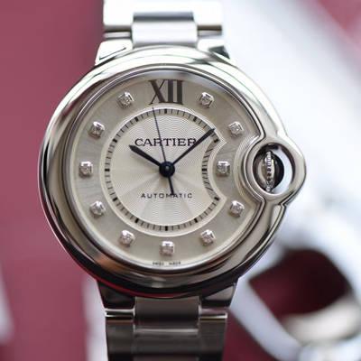 【V6厂一比一超A高仿手表】卡地亚蓝气球系列WE902074女装33毫米机械腕表