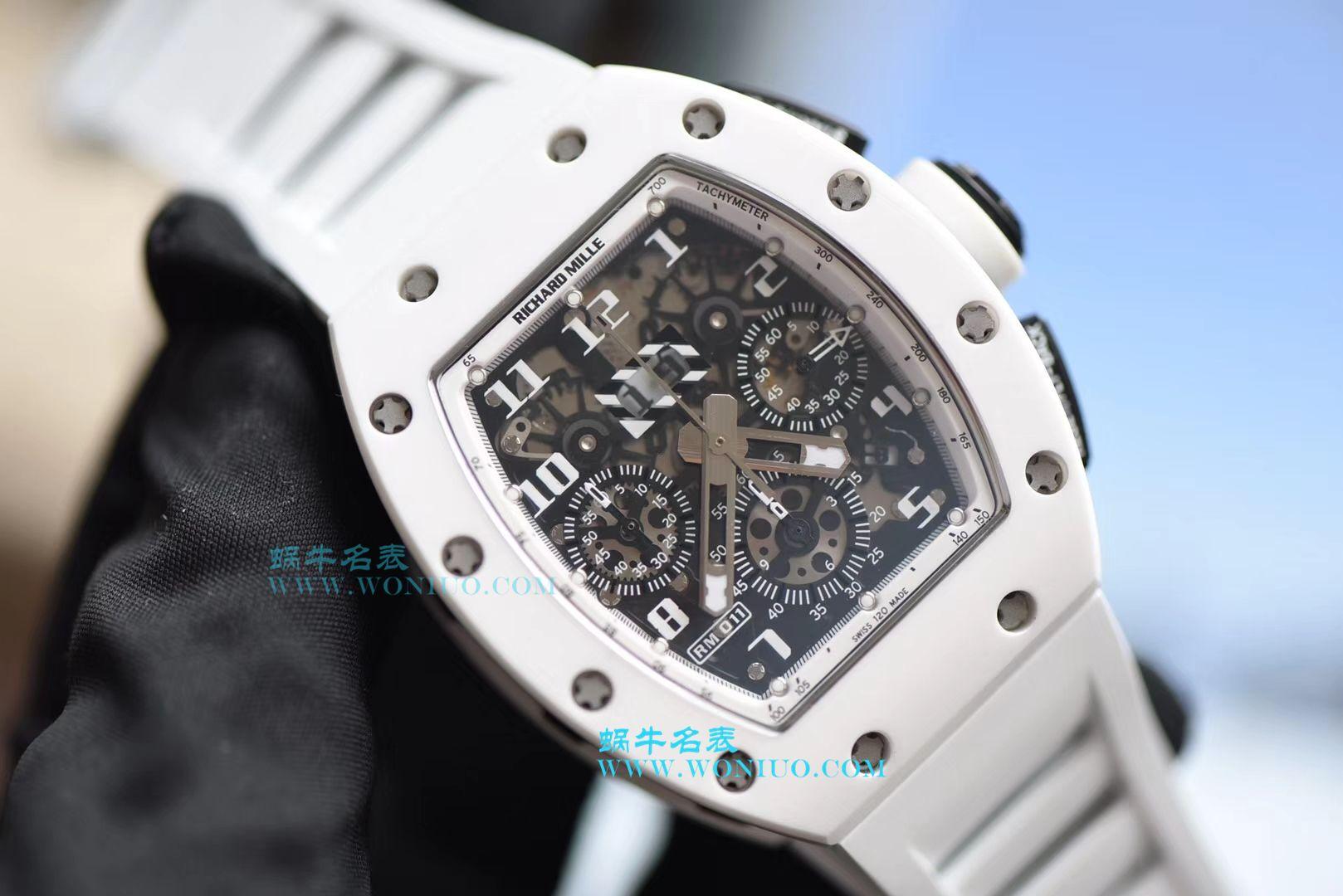 【KV厂一比一超A高仿手表】理查德米尔RICHARD MILLE男士系列RM011 白陶瓷多功能腕表 / RM 011G