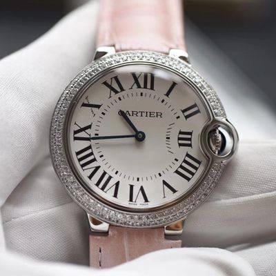 【HBBV6厂一比一超A高仿手表】卡地亚蓝气球系列WE900651女装36毫米石英腕表