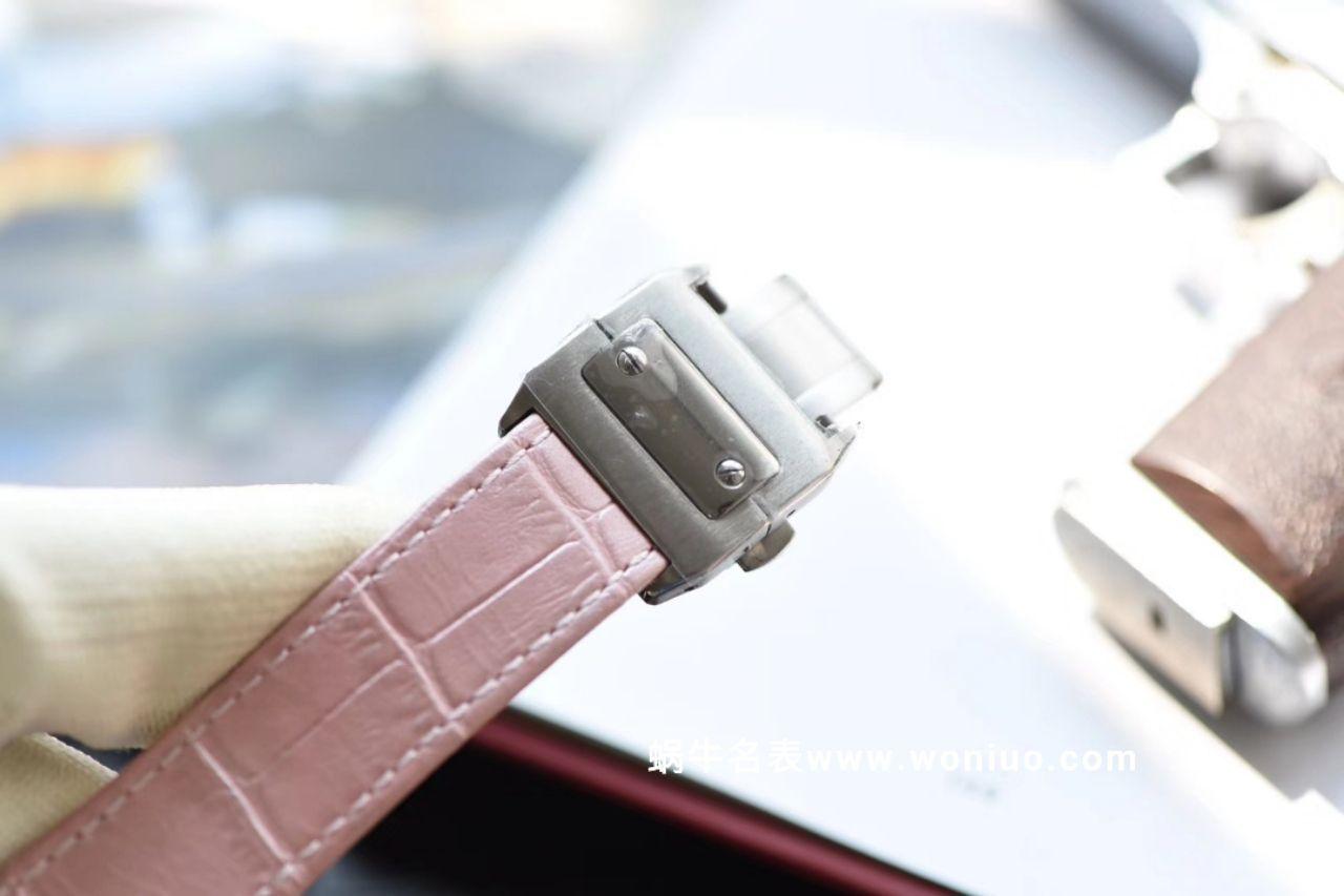 【独家视频测评V6厂一比一超A高仿手表】卡地亚山度士系列W20126X8 女士机械腕表 / KAG041