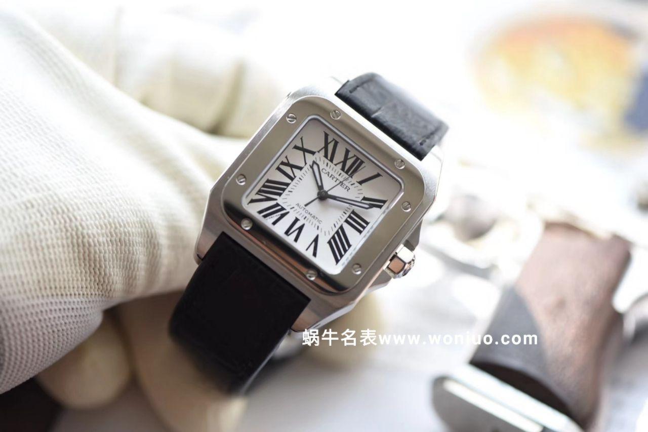 【独家视频测评HBBV6厂一比一超A高仿手表】卡地亚山度士系列W20126X8 女士机械腕表 / KDY084
