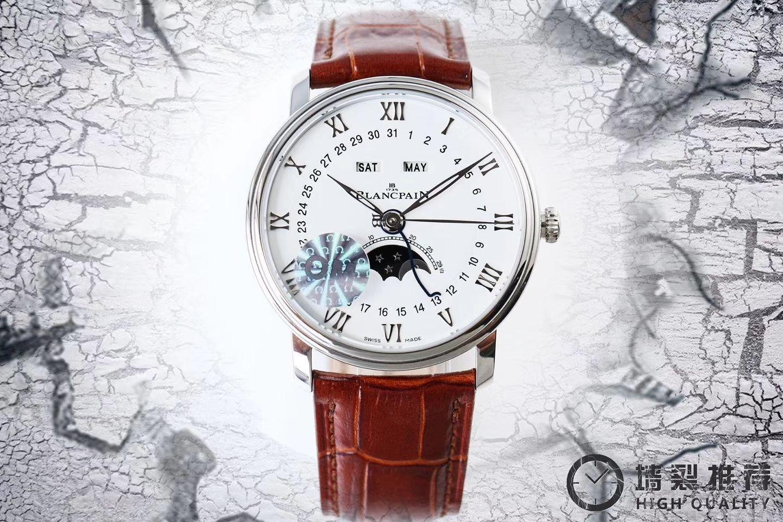 【视频评测OM厂1:1超A精仿手表】宝珀经典系列 6654-1127-55B腕表 / BP022