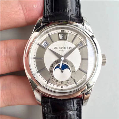 【KM厂一比一超A高仿手表】百达翡丽复杂功能计时系列5205G-001、5205G-010、5205G-013 白金腕表