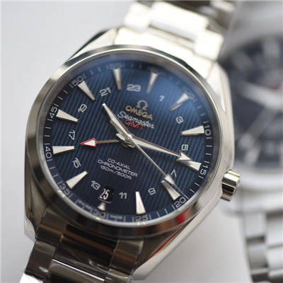 【VS一比一超A高仿手表】欧米茄海马GMT 150米系列231.10.43.22.03.001腕表