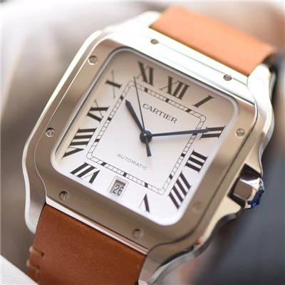 【V6厂一比一超A顶级高仿手表】卡地亚山度士系列WSSA0009男女情侣腕表价格报价