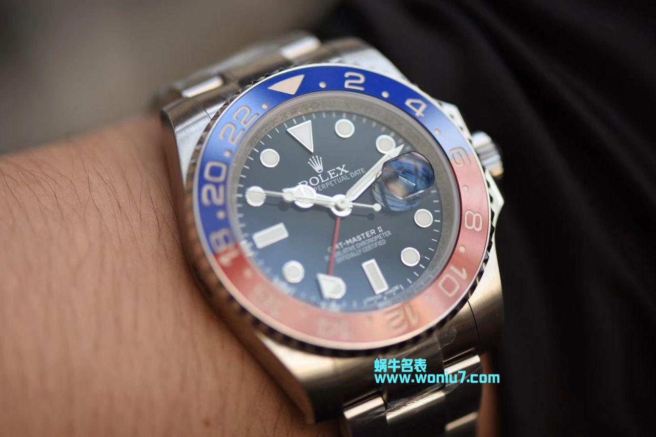 【DJ一比一超A高仿手表】劳力士格林尼治型II系列116719-BLRO腕表 / R237