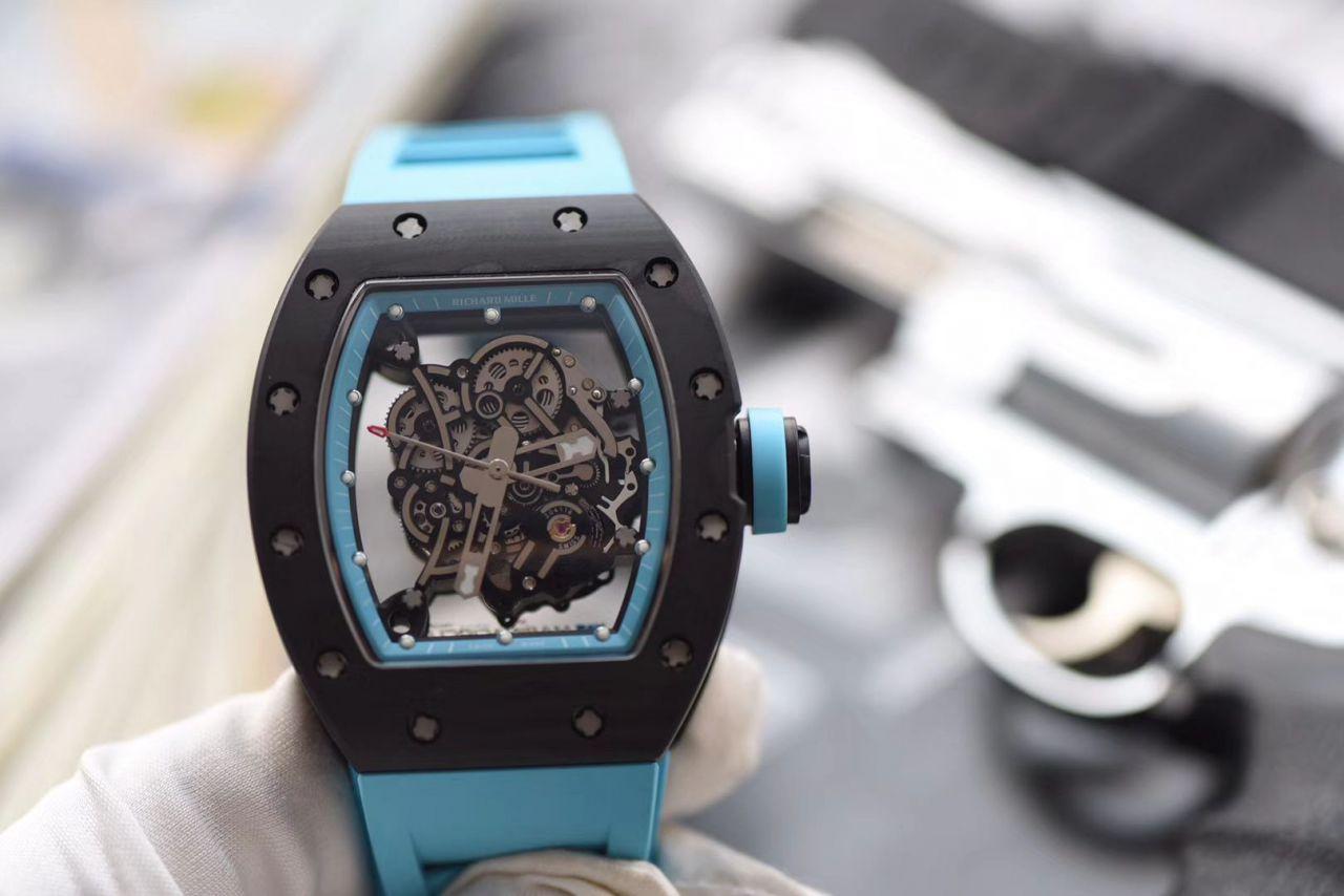 【KV厂一比一超A精仿手表】理查德.米勒RICHARD MILLE男士系列RM 055碳纤维腕表 / KV RM 055