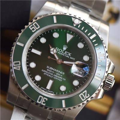 【视频解析DJ一比一超A高仿手表】劳力士潜航者116610-LV-97200绿水鬼腕表价格报价