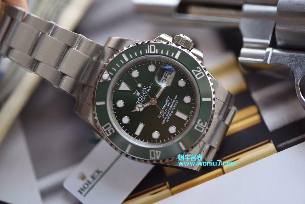 【视频解析DJ厂一比一超A高仿手表】劳力士潜航者116610-LV-97200绿水鬼腕表 / R238
