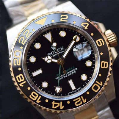 【N厂一比一超A精仿手表】劳力士格林尼治型II系列116713-LN-78203包真金腕表价格报价