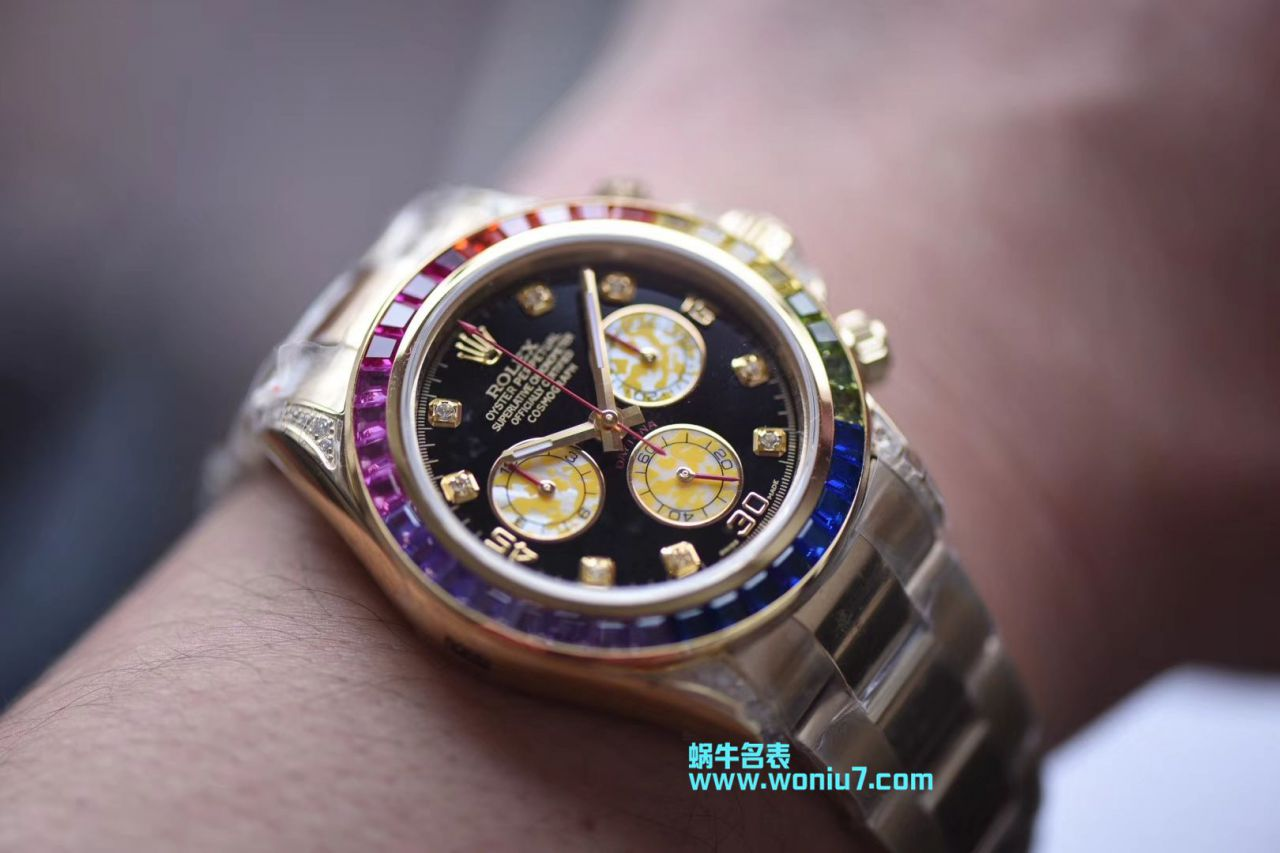 【台湾厂一比一超A克隆手表】劳力士宇宙计型彩虹迪通拿系列116595 RBOW腕表 / R243