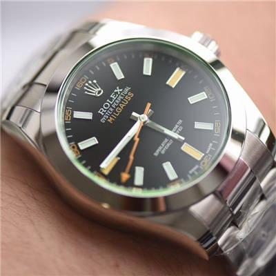 【DJ一比一超A顶级克隆手表】劳力士MILGAUSS系列116400-GV-72400黑盘腕表(绿玻璃闪电)价格报价