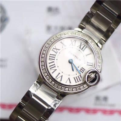 【渠道原单】卡地亚蓝气球系列WE9003Z3腕表28毫米女士真钻石英