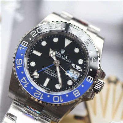 【N厂一比一超A高仿手表】N 厂V9版本904L精钢蓝黑圈劳力士格林尼治二代GMT116710BLNR-78200腕表价格报价