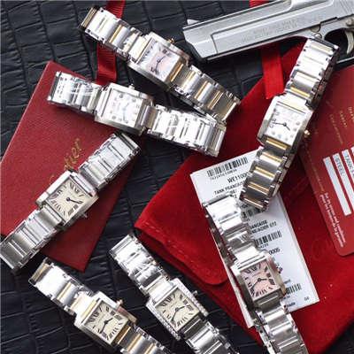 【8848F厂一比一超A高仿手表】卡地亚坦克系列W51008Q3、WE1002S3、W51007Q4、WE110006、WE110004女士腕表