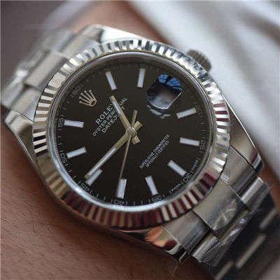 【AR一比一超A精仿手表】劳力士日志型系列116334-黑盘腕表价格报价