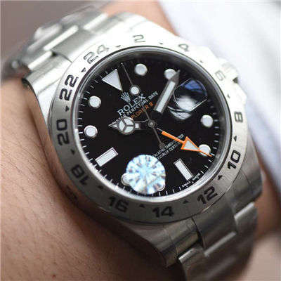 【JF一比一超A精仿手表】劳力士探险家型探险家型II系列 216570-77210 黑盘腕表价格报价
