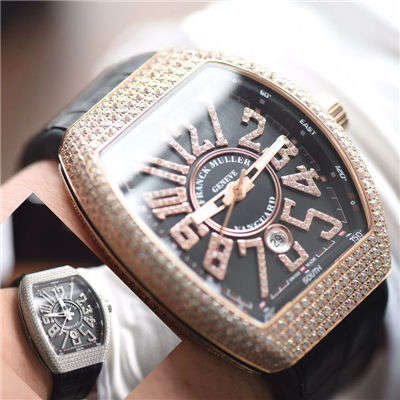 【最高版本~F M 霸气V45】法兰克穆勒VANGUARD系列V45镶钻腕表价格报价