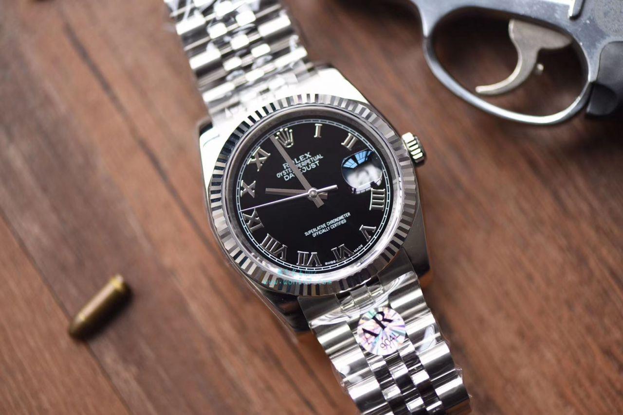 劳力士日志型系列116234-63200黑罗马盘腕表【AR1:1超A克隆手表】 / R265