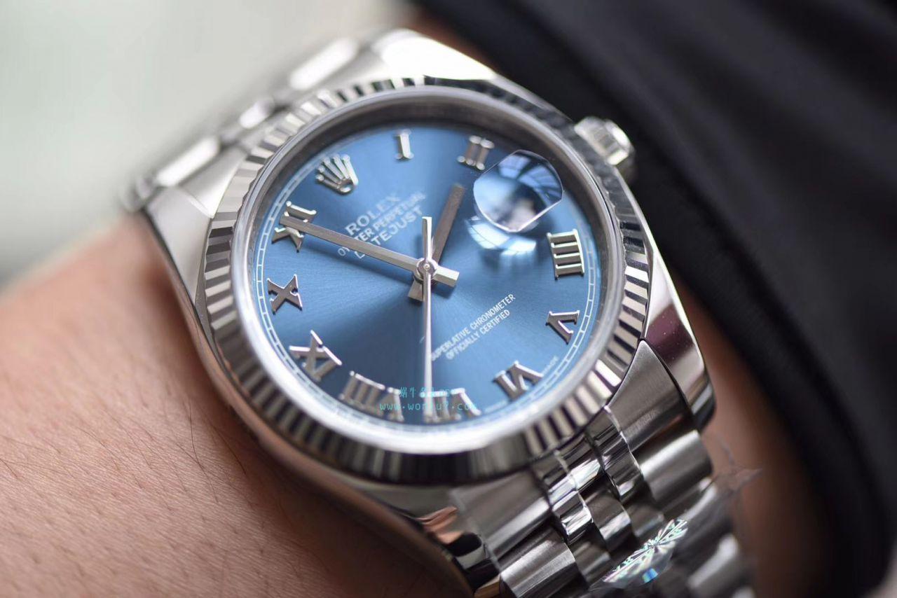 劳力士日志型系列116234-63200蓝罗腕表【AR厂顶级复刻手表】 / R266