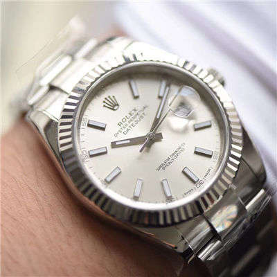 【AR一比一超A高仿手表】劳力士日志型DATEJUST系列116334银盘腕表价格报价
