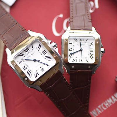 卡地亚山度士系列W20072X7腕表、W20107X7男女情侣腕表【V6厂一比一超A高仿手表】