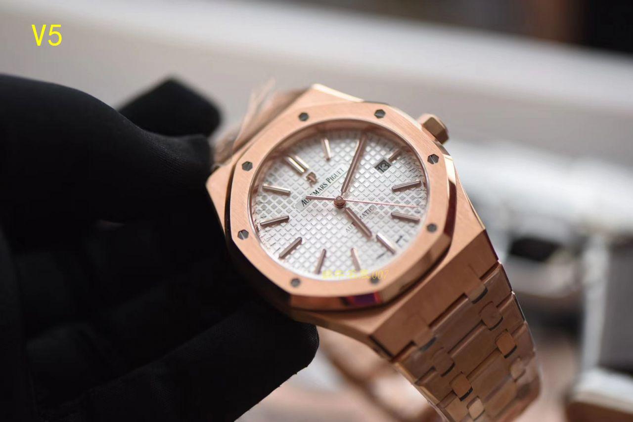 【JF厂顶级复刻手表】皇家橡树系列 皇家橡树自动上链15400OR.OO.1220OR.02腕表 / AP019