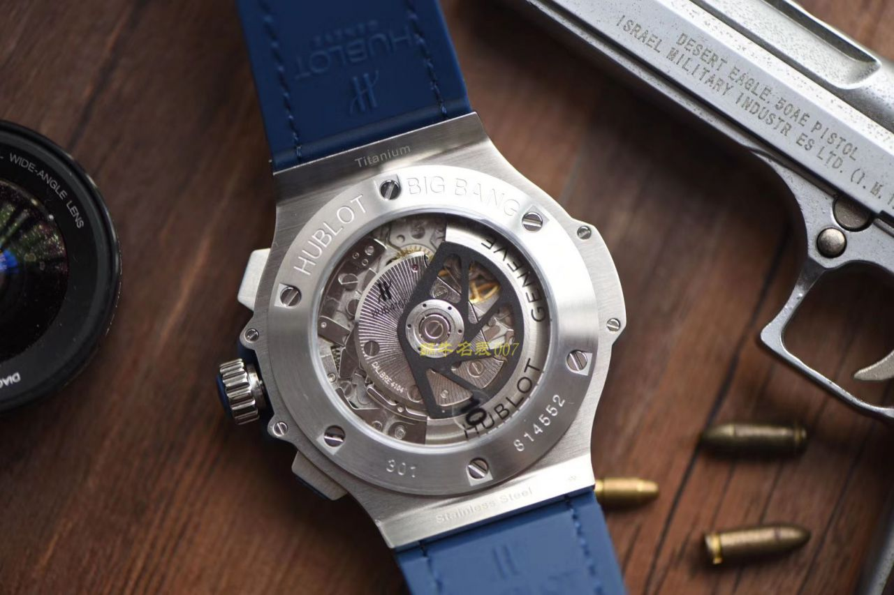 HBBv6新款宇舶大爆炸HUBLOT   Big Bang 精钢蓝色 腕表 / YB061