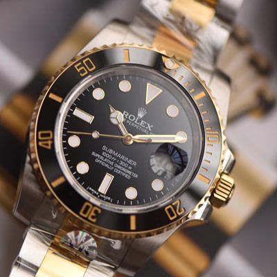 劳力士潜航者型系列116613-LN-97203黑盘腕表【AR一比一复刻间金黑水鬼手表】价格报价