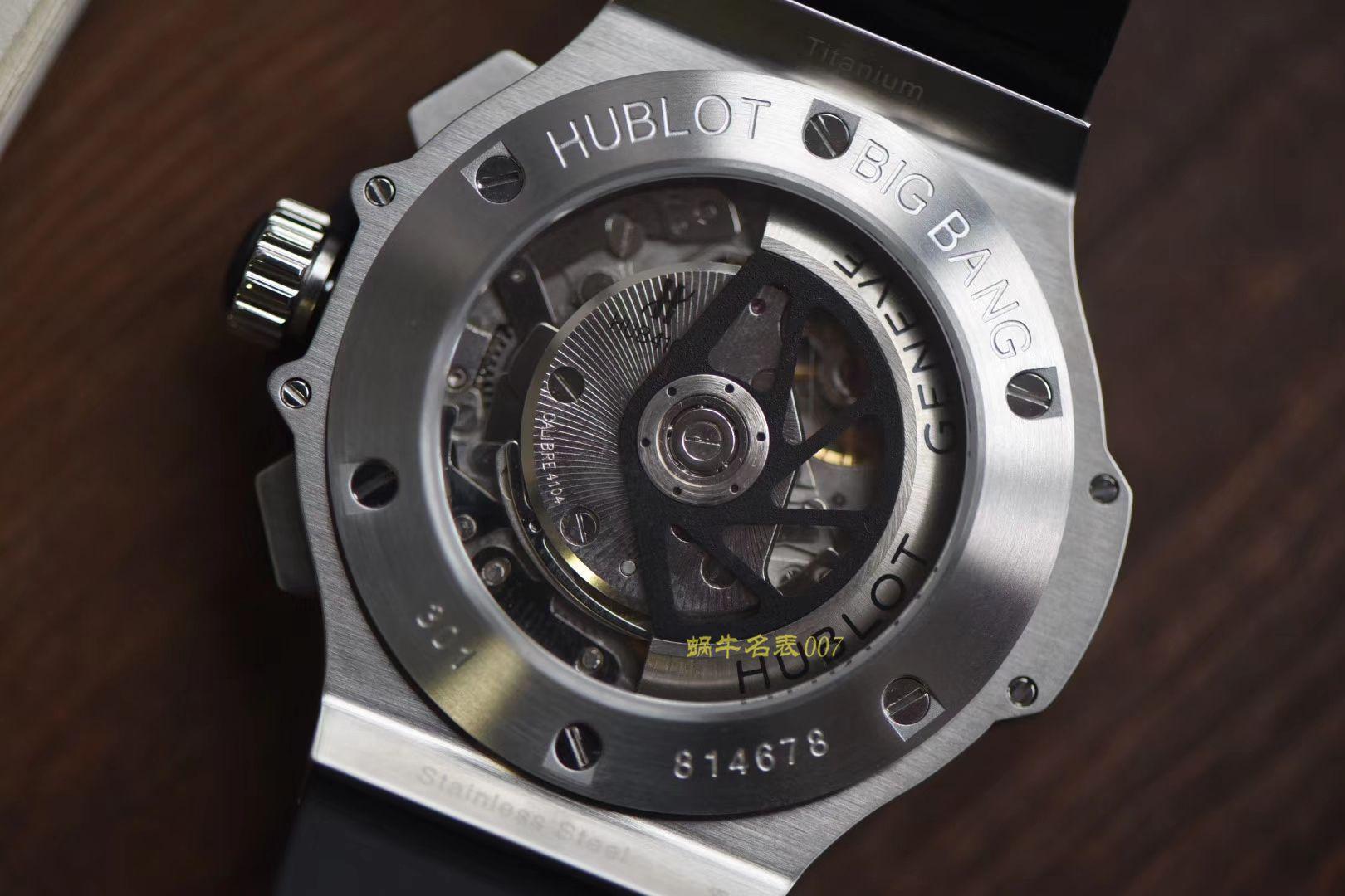 【V6厂超A厂1:1高仿手表】宇舶HUBLOT大爆炸STEEL系列301.SX.130.RX腕表YB020 / YB020