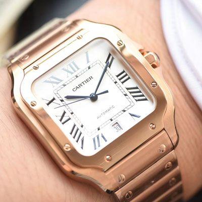 卡地亚山度士系列WGSA0007(大号)腕表【KOR厂一比一精仿手表】