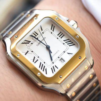 卡地亚山度士系列W2SA0006(大号)腕表【KOR厂一比一超A复刻手表】