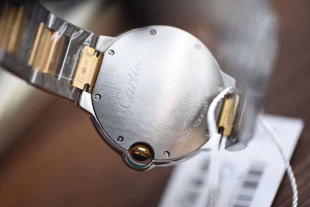 卡地亚蓝气球系列W6920047腕表女装36毫米【V9厂顶级复刻手表】V918K包金蓝气球间金款 / K203