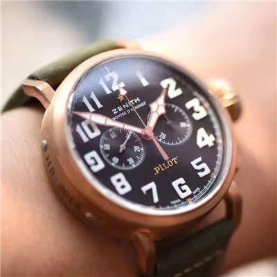 视频评测真力时飞行员系列29.2430.4069/21.C800腕表【XF厂新品厂1:1精仿手表:好莱坞大片青铜骑士杀到】