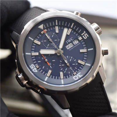 视频评测IWC万国表海洋时计系列IW376805腕表一比一精仿手表【万国海洋计时系列 雅克-伊夫 库斯托探险之旅特别版】价格报价