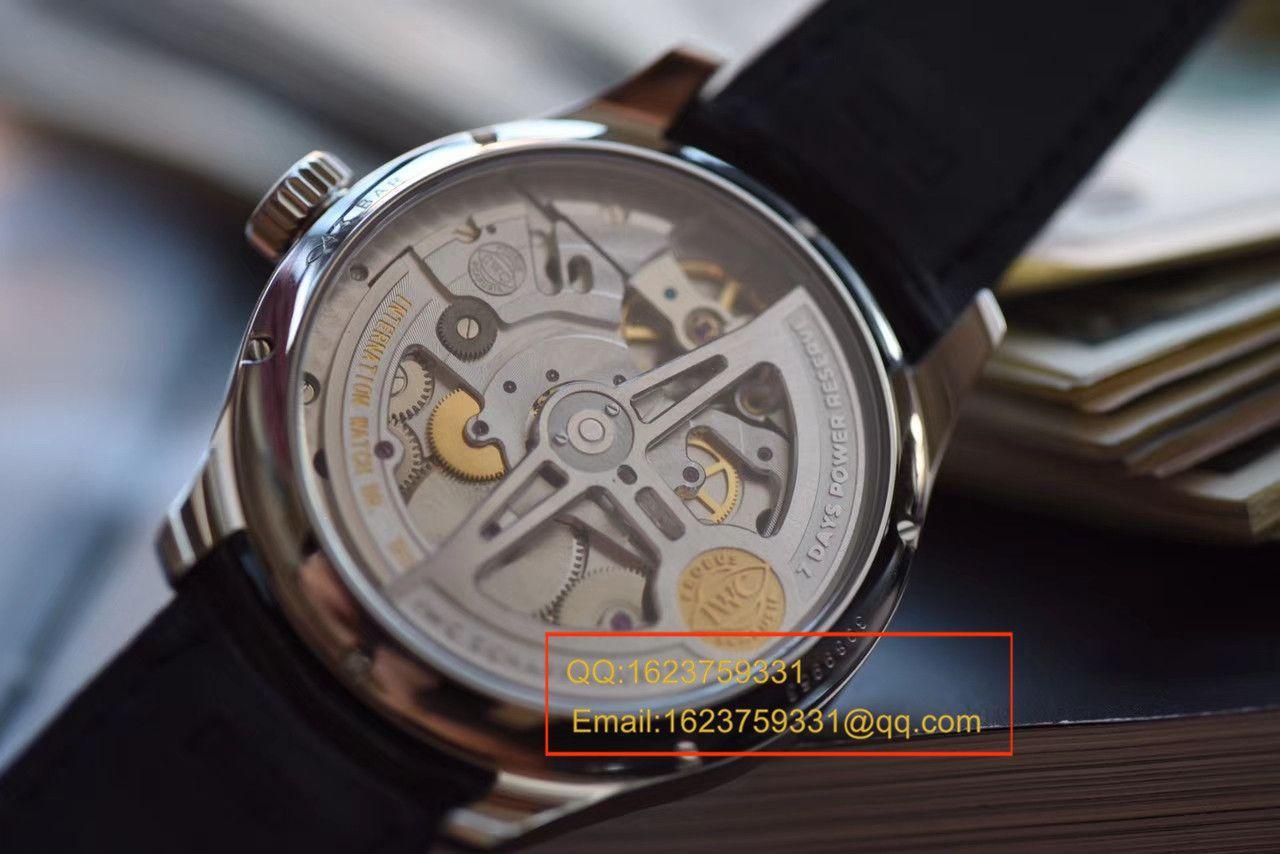 视频评测IWC万国表葡萄牙系列IW503501腕表YL厂一比一超A高仿万国年历手表【年度万国巨献!到货市面最高版本】 / WG305MM