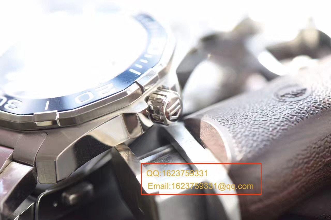 【视频评测原单牛货】泰格豪雅竞潜系列WAY201B.BA0927腕表,WAY201A.BA0927双色 / TG053MM